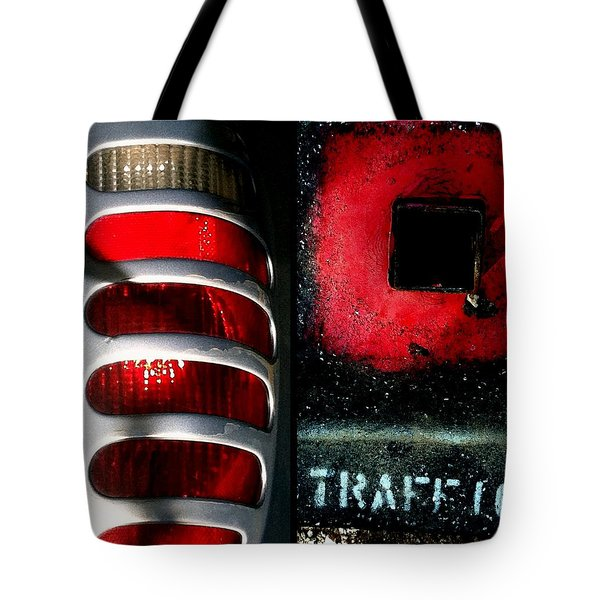Red Road Rage Tote Bag