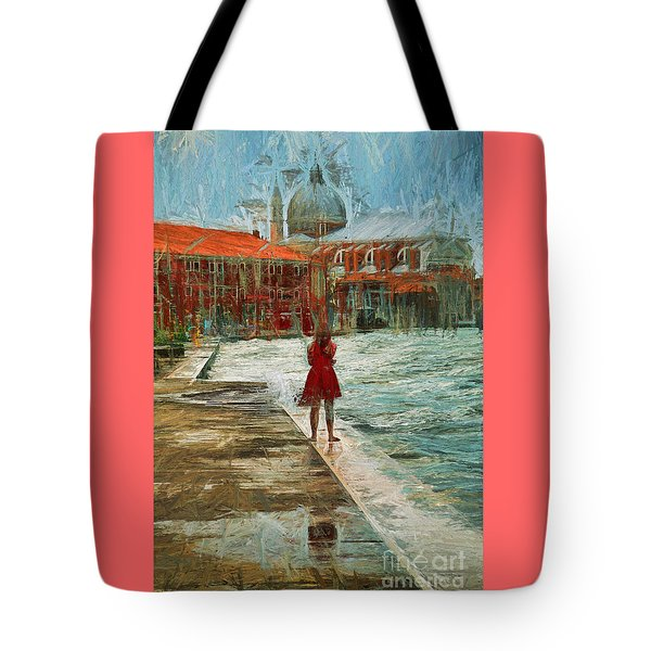 Red Robe At Redentore Tote Bag by Jack Torcello