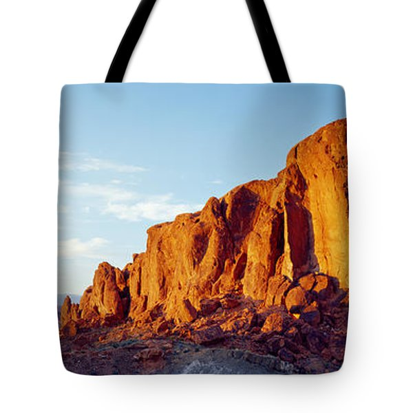 Red Rock At Summer Sunset, Valley Of Tote Bag