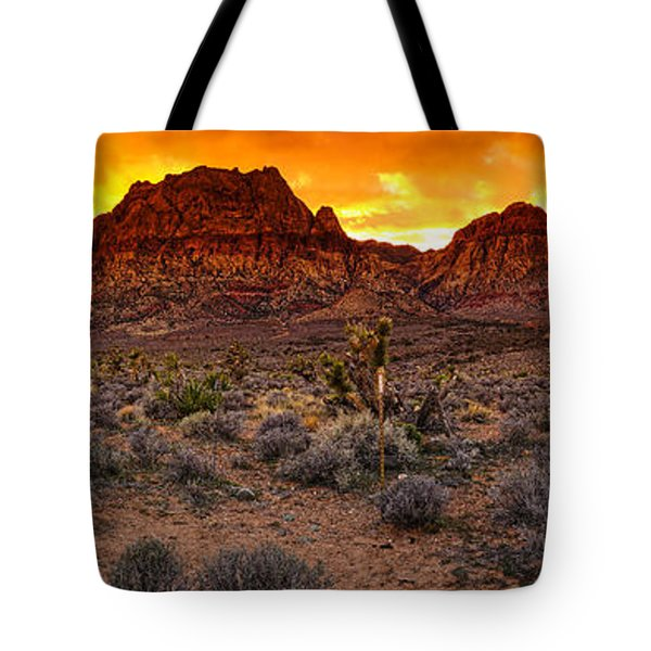 Red Rock Canyon Las Vegas Nevada Fenced Wonder Tote Bag by Silvio Ligutti
