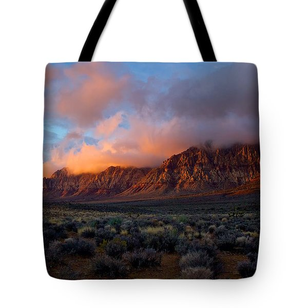 Tote Bag featuring the photograph Red Rock Canyon National Conservation Area Las Vegas by Michael Rogers
