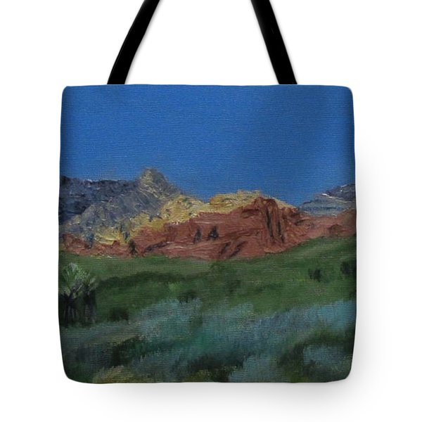 Red Rock Canyon Panorama Tote Bag