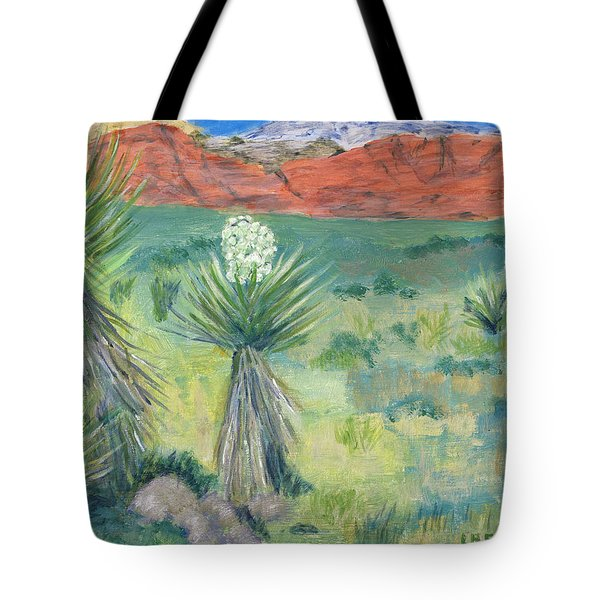 Red Rock Canyon With Yucca Tote Bag