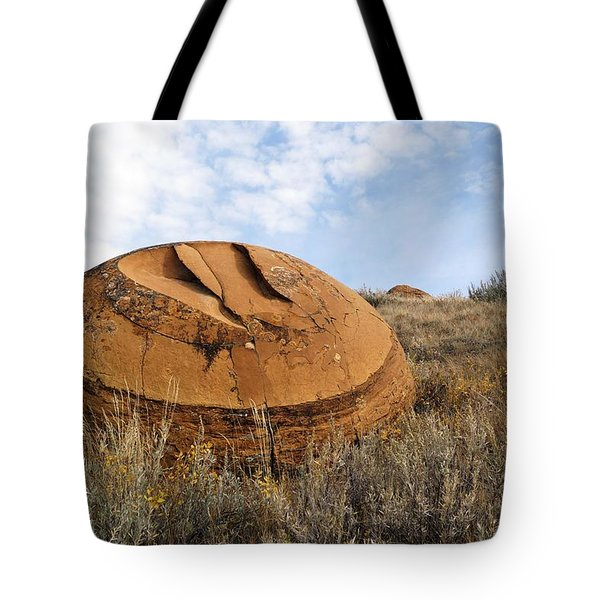 Red Rock Coulee I Tote Bag by Leanna Lomanski