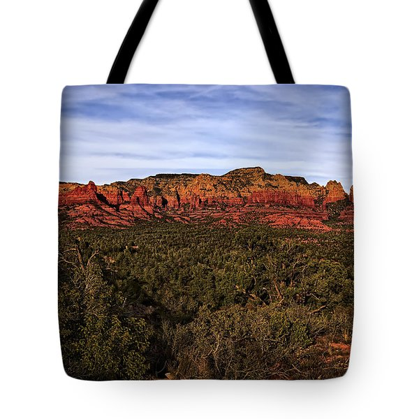 Tote Bag featuring the photograph Red Rock Golden Hour 26 by Mark Myhaver