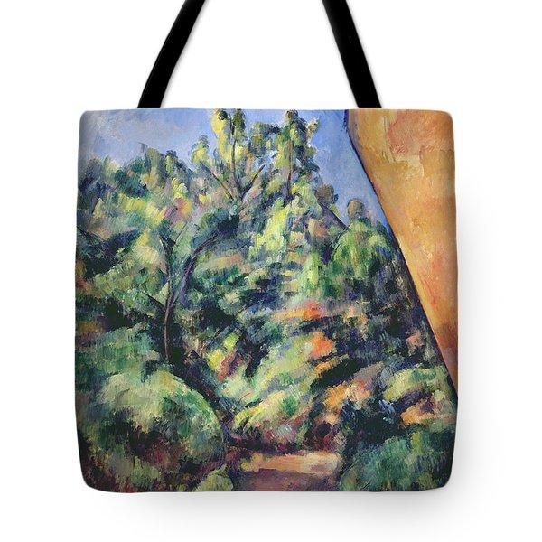 Red Rock Tote Bag by Paul Cezanne