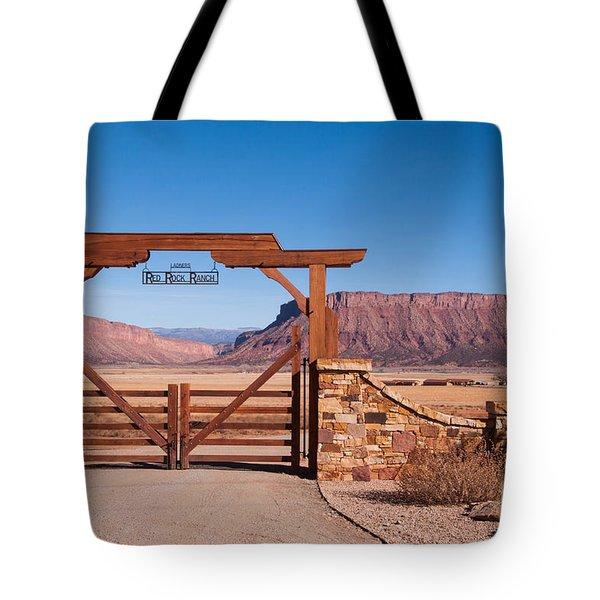 Red Rock Ranch Tote Bag by Bob and Nancy Kendrick