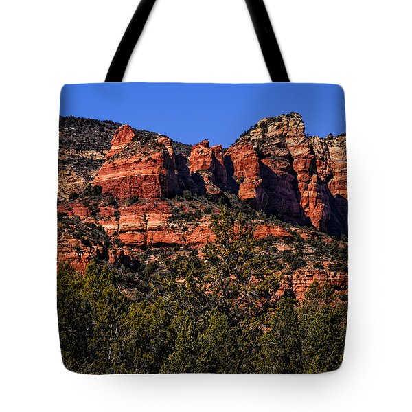 Tote Bag featuring the photograph Red Rock Sentinels by Mark Myhaver