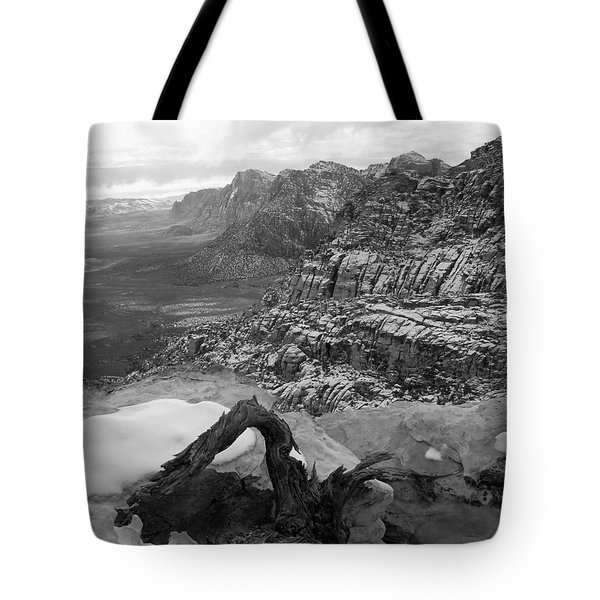 Tote Bag featuring the photograph Red Rock Winter by Alan Socolik