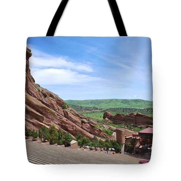 Red Rocks Tote Bag by Charlie and Norma Brock
