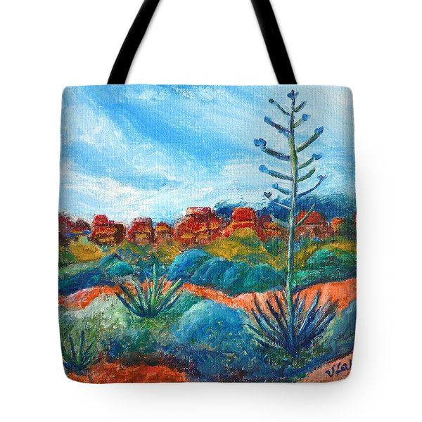 Red Rocks Tote Bag by Victoria Lakes