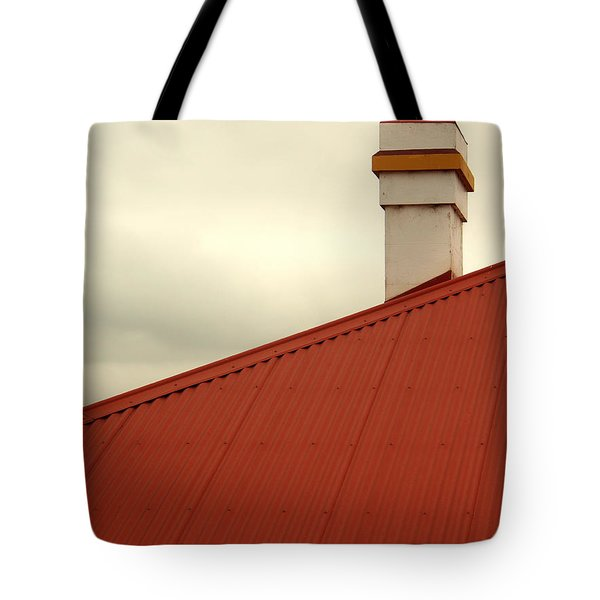 Red Roof Tote Bag by Kaleidoscopik Photography