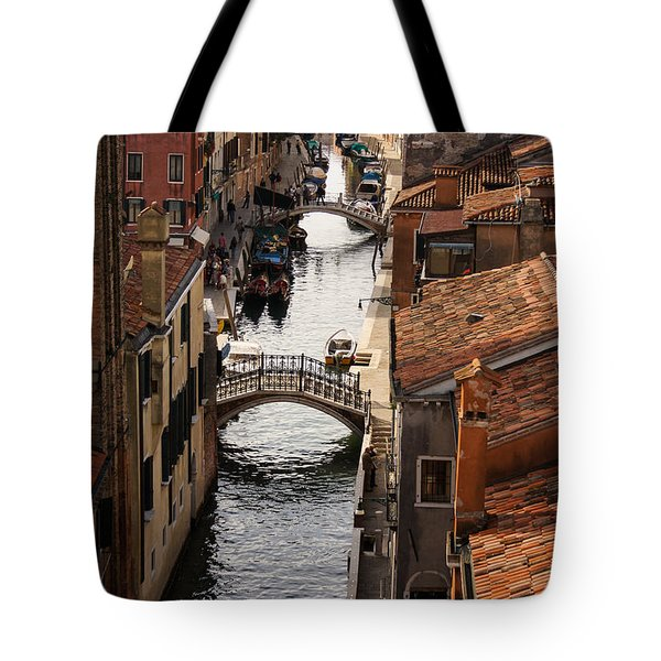 Red Roofs Of Venice Tote Bag