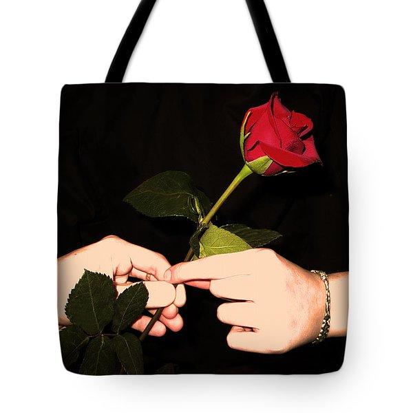 Red Rose By Jan Marvin Studios Tote Bag