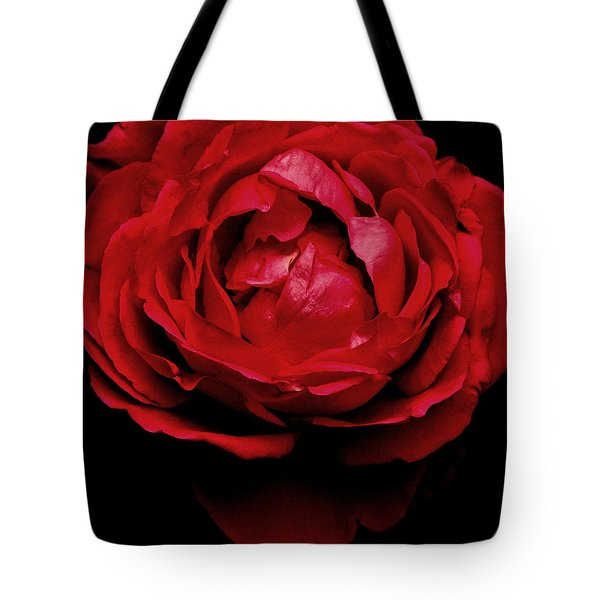 Tote Bag featuring the photograph Red Rose by Charlotte Schafer