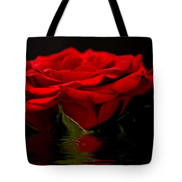 Red Rose Flood Tote Bag by Steve Purnell