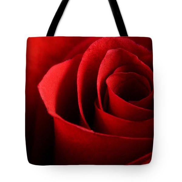 Red Rose Macro Tote Bag