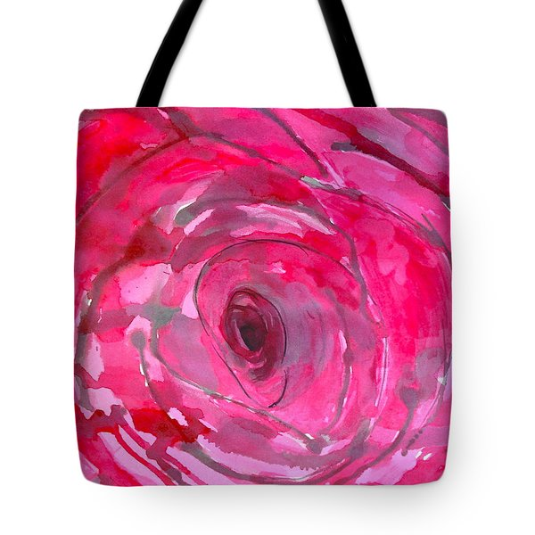 Red Rose Tote Bag by Melissa Torres