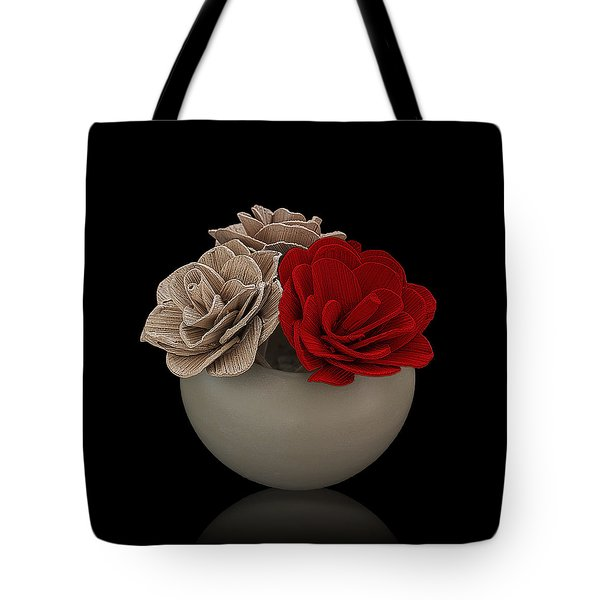 Red Rose Shimmer Tote Bag by Rob Guiver