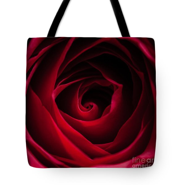 Red Rose Square Tote Bag by Matt Malloy