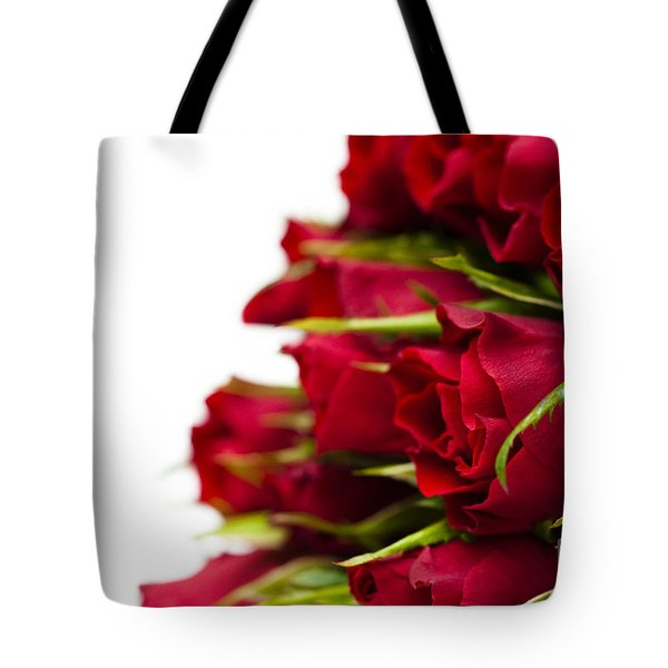 Red Roses Tote Bag by Anne Gilbert