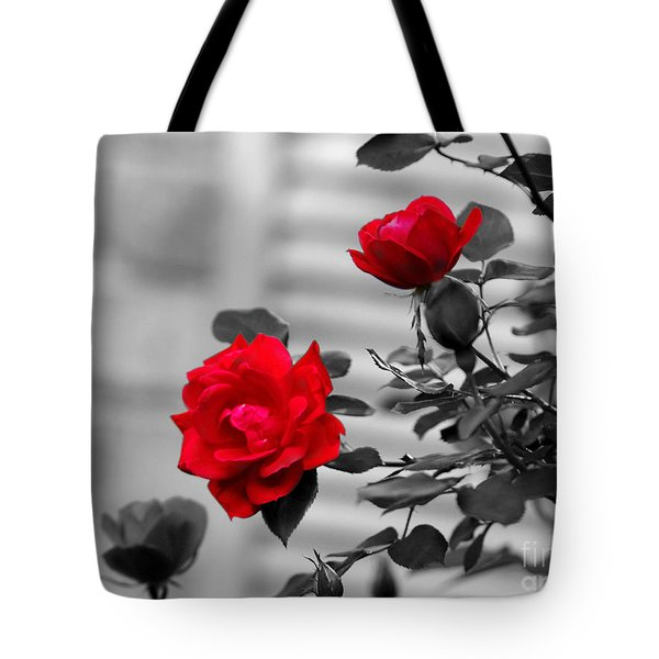 Red Roses Tote Bag by Jai Johnson