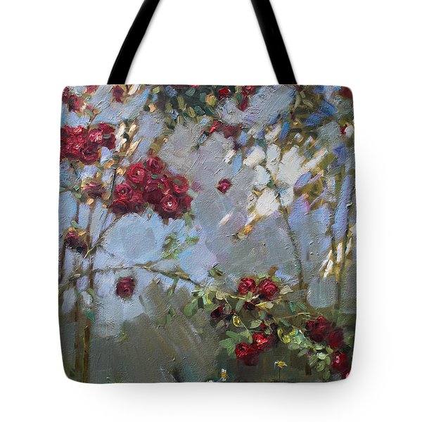 Red Roses Tote Bag by Ylli Haruni
