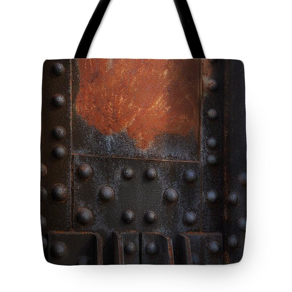Red Rust Rivets Tote Bag