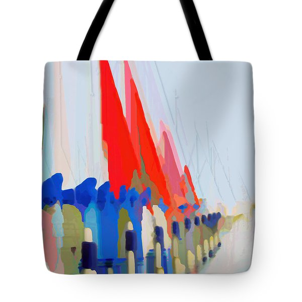 Red Sails In The Sunset Tote Bag