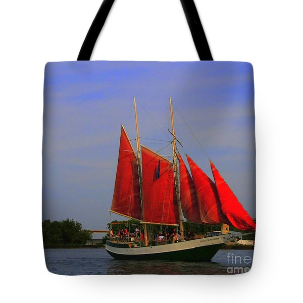 Red Sails Tote Bag by Kathleen Struckle