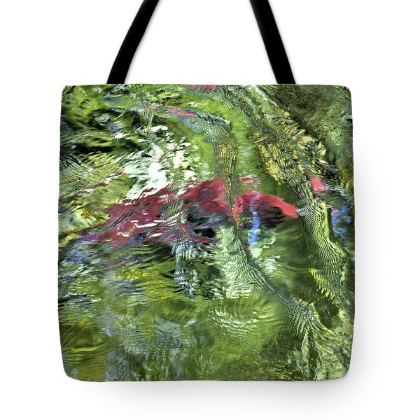 Tote Bag featuring the photograph Red Salmon In Steep Creek by Cathy Mahnke