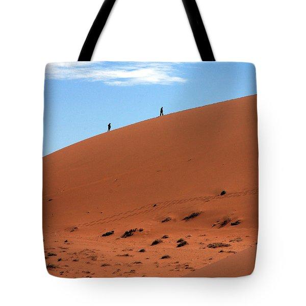 Red Sand Dunes Tote Bag by Aidan Moran