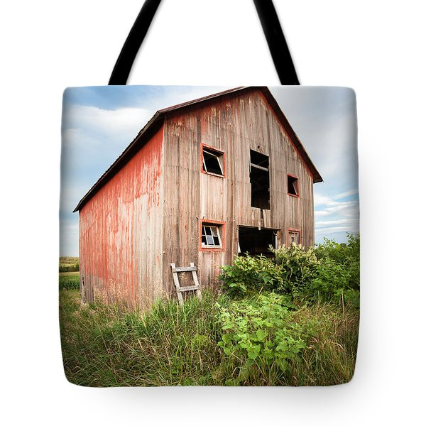 Tote Bag featuring the photograph Red Shack On Tucker Rd - Vertical Composition by Gary Heller