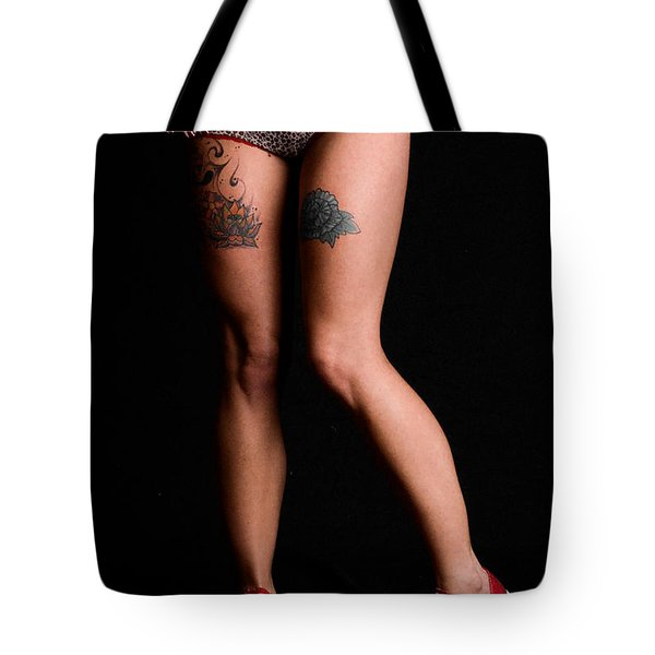 Red Shoes And Tats Tote Bag