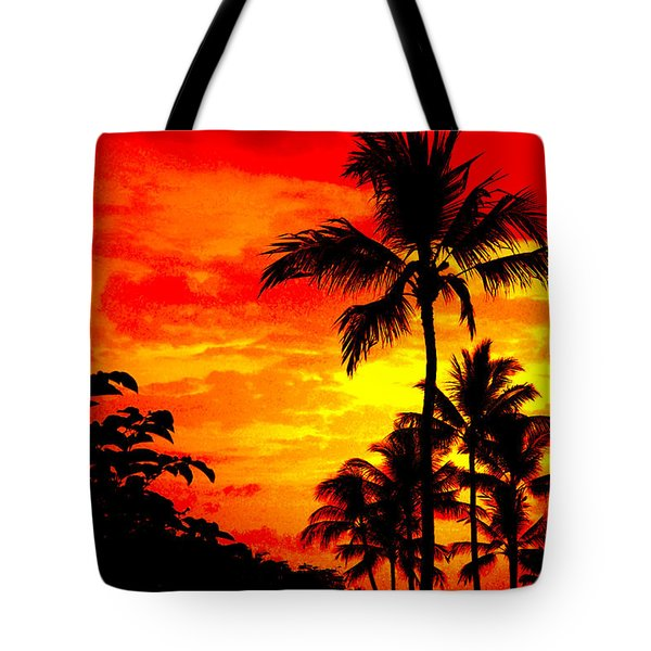 Tote Bag featuring the photograph Red Sky At Night by David Lawson