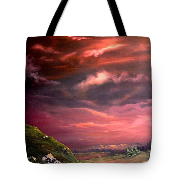 Red Sky At Night Tote Bag by Jean Walker