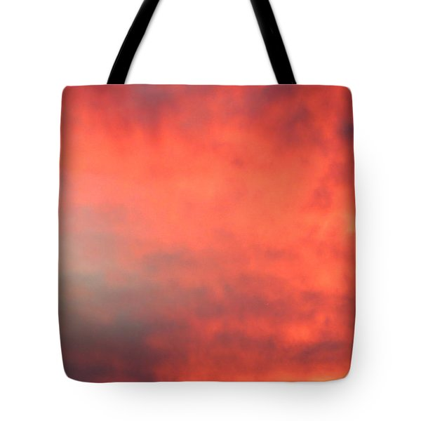 Red Sky At Night Tote Bag by Laurel Powell