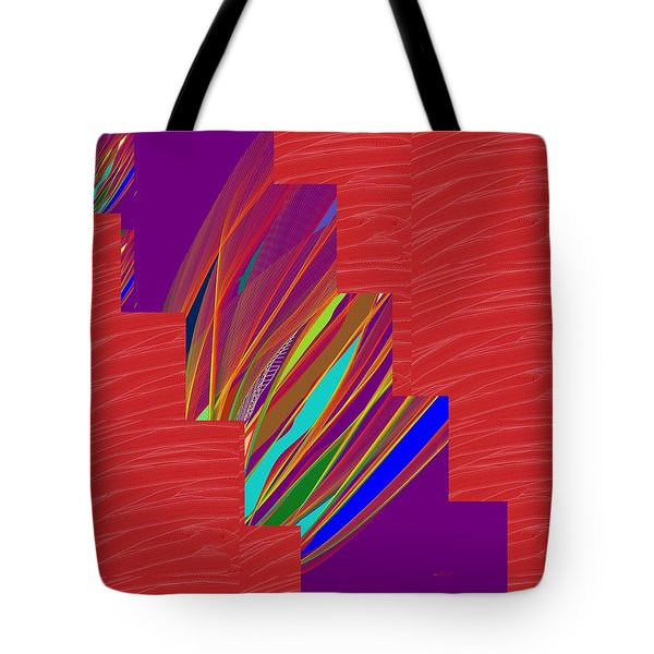 Tote Bag featuring the photograph Red Sparkle And Blue Lightening Across by Navin Joshi