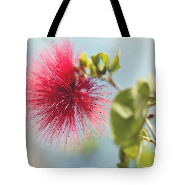 Tote Bag featuring the photograph Red Sparkle by Yew Kwang