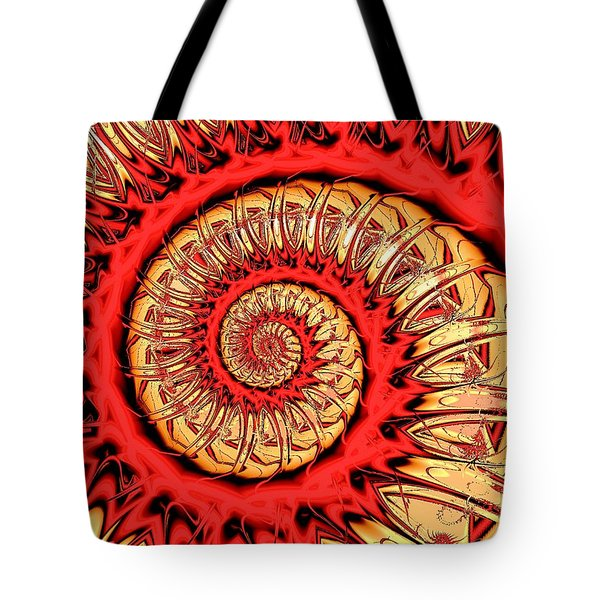 Red Spiral Tote Bag by Anastasiya Malakhova