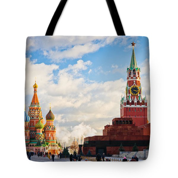Red Square Of Moscow - Featured 3 Tote Bag by Alexander Senin