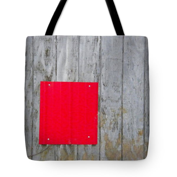 Red Square On A Wall Tote Bag