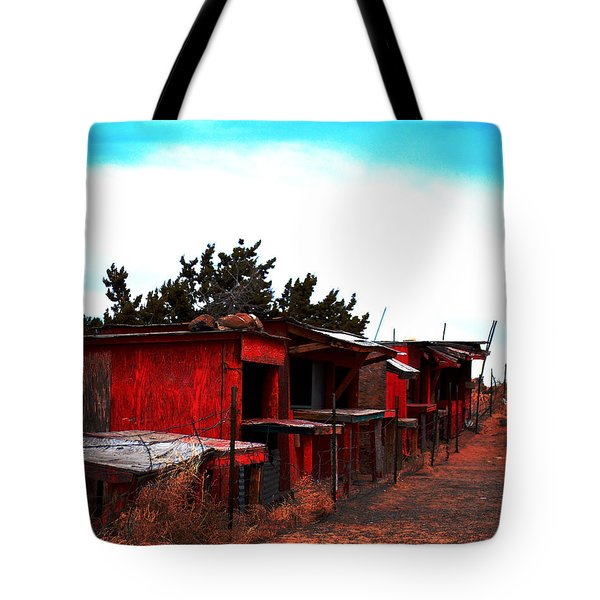 Tote Bag featuring the photograph Red Stands by Maggy Marsh