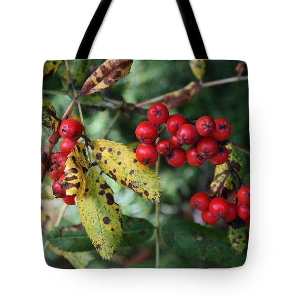 Red Summer Berries - Whistler Tote Bag by Amanda Holmes Tzafrir