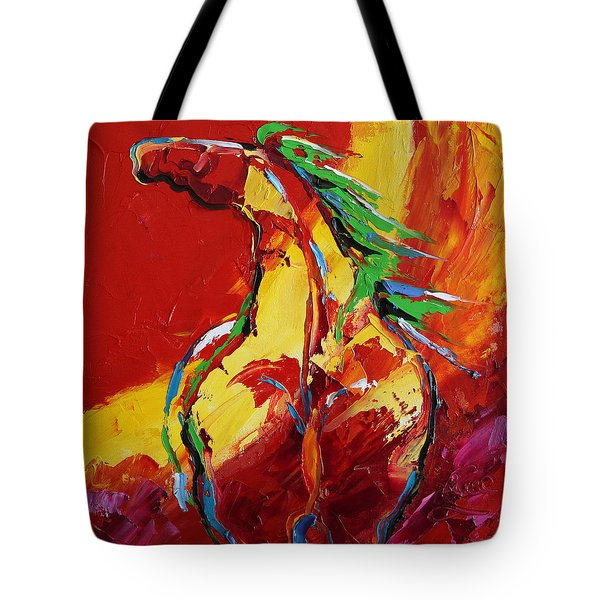 Red Sun Horse 20  2014 Tote Bag