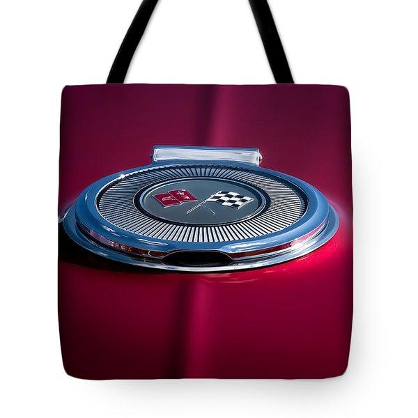 Red Sunburst Tote Bag