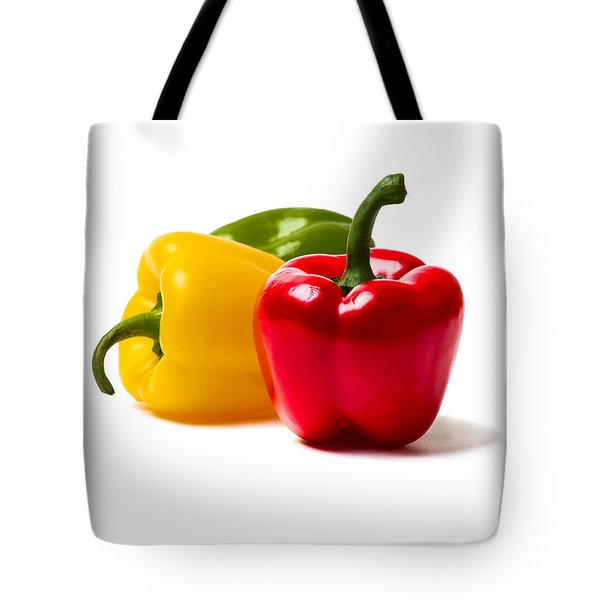 Red Sweet Pepper - Square Tote Bag by Alexander Senin
