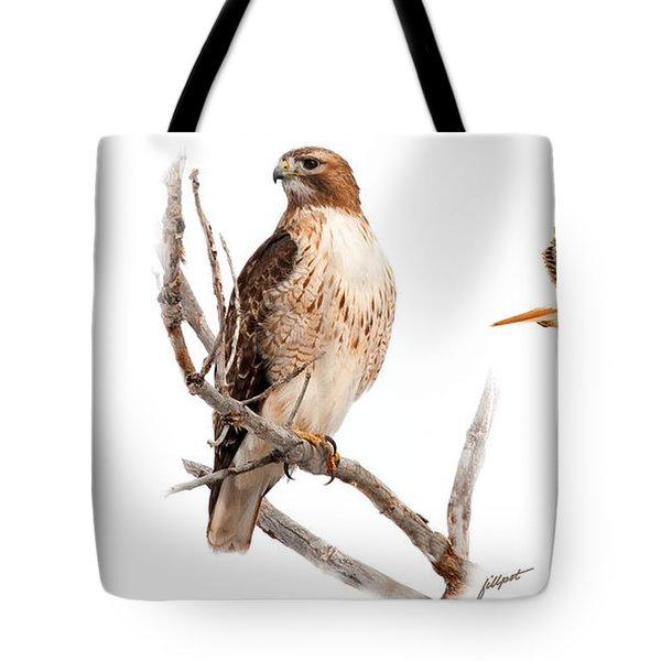 Red Tail Hawk Series Tote Bag