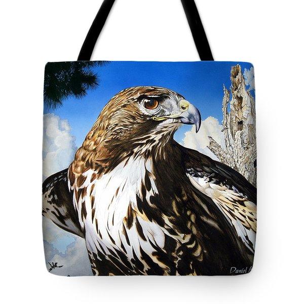 Da141 Red Tailed Hawk By Daniel Adams Tote Bag