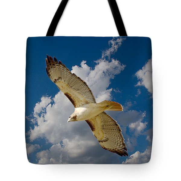 Red-tailed Hawk Soaring Series 5 Tote Bag